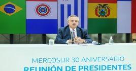 """""""Si somos un lastre, tomen otro barco"""", respondió el mandatario argentino, Alberto Fernández a las críticas de Lacalle Pou al Mercosur."""