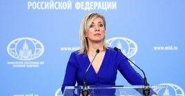 "Zajarova se refirió a las criticas de la Unión Europea contra Rusia como""filosofía muerta""."