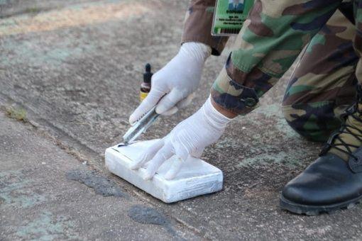 Se incautaron un total de 229 paquetes de cocaína en su interior.