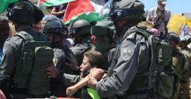 Las autoridades de Israel han arrestado a 230 niños palestinos desde principios del 2021.