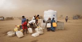 """""""Hago un llamamiento a los amigos internacionales para que den generosamente"""", dijo el Ministro de Asuntos Humanitarios."""