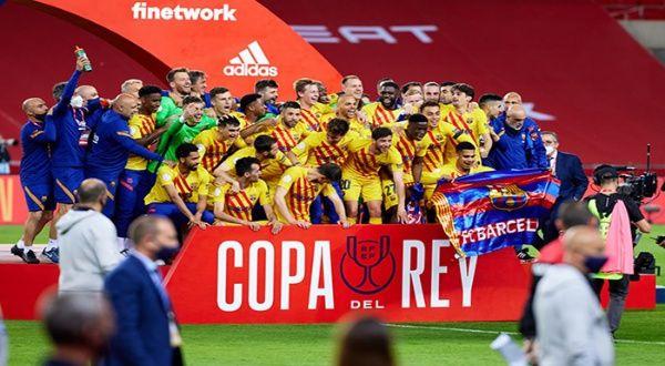 Barcelona F.C. gana la Copa del Rey en España