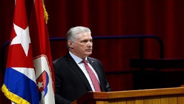 """""""La historia del partido se puede resumir en dos palabras: pueblo y unidad, dijo el primer secretario del PCC, Miguel Díaz-Canel."""