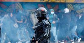 Los agentes del Esmad han reprimido manifestaciones en ciudades como Bogotá (capital), Medellín y Cali.