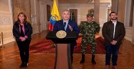 El anuncio del presidente Duque tuvo lugar poco después de que se registraran nuevas manifestaciones en la capital Bogotá, Cali y otras ciudades.