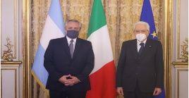 Tanto Draghi como el presidente italiano Sergio Mattarella expresaron apoyo a la búsqueda de soluciones financieras.