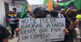 Esta es la jornada número 17 de protestas contra las políticas neoliberales implementadas por el Gobierno de Iván Duque.
