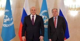 El primer ministro ruso, Mijaíl Mishustin señaló que la pandemiareafirmóla importancia de los esfuerzos conjuntos de los países miembros de la ONU.