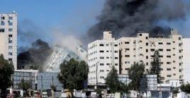 Al menos 140 palestinos, incluidos 39 niños, han muerto en la Franja de Gaza desde el lunes.