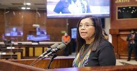 Guadalupe Llori fue electa con 71 votos a favor de los 137 del pleno de la Asamblea.