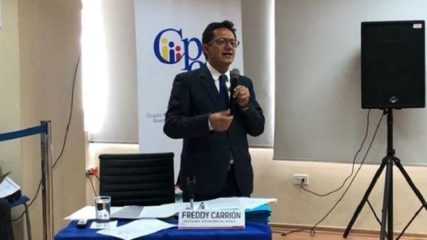 En marzo pasado, el defensor del Pueblo de Ecuador había denunciado por delitos de lesa humanidad al presidente Lenín Moreno y a otras autoridades.