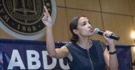 La legisladora de origen latino Alexandria Ocasio-Cortez ha exigido repetidamente una postura responsable de su país con Palestina.