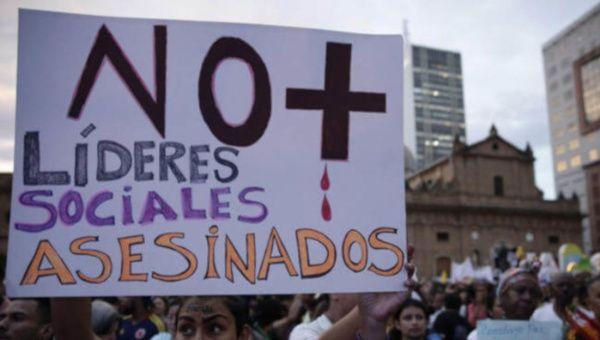 En el 2020 fueron registrados 182 asesinatos en unos 103 municipios de Colombia.