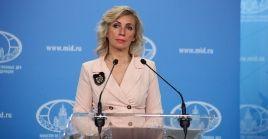 Zajárova destacó que los altos miembros de la OTAN y la UE prefieren no hacer mención del tema del espionaje por parte de Estados Unidos