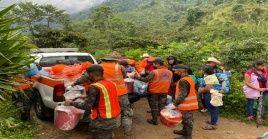A raíz de las precipitaciones, durante 2021 en Guatemala 4.237 personas se vieran obligadas a evacuarse.
