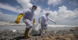 La nave transportaba 1.486 contenedores de productos químicos.