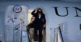 La visita de Kamala Harris durará menos de 24 horas ya que partirá del país norteamericano el martes por la tarde.