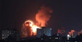 Por segundo día consecutibvo la fuerza aérea israelí bombardea objetivos en la Franja de Gaza.