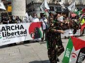 La marcha busca visibilizar la lucha del pueblo saharaui, denunciar la ocupación genocida marroquí y el expolio de los recursos naturales del pueblo saharaui.