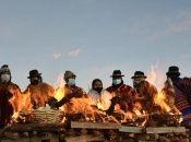 En coincidencia con el solsticio de invierno en el sur, los pueblos originarios celebran la llegada del año nuevo en la región andina.