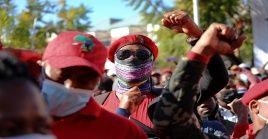 La marcha tuvo lugar a las 10H00, hora local, y se dirigió a la oficina de la Autoridad Reguladora de Sudáfrica