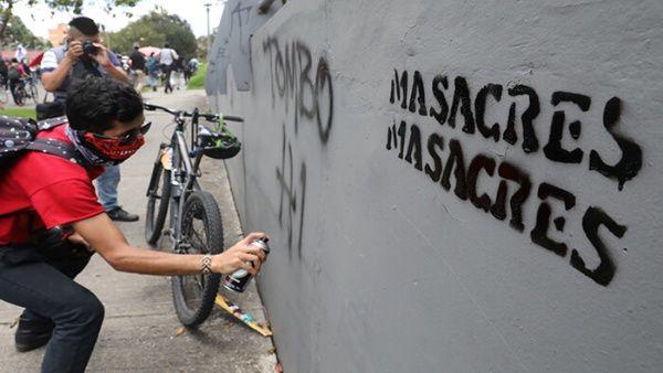 En comparación con el año pasado, Colombia muestra un incremento en el número de masacres.