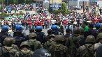 Hondureños salieron a las calles en defensa del entonces presidente Manuel Zelaya.
