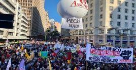 De acuerdo con los organizadores de la campaña Fuera Bolsonaro, hubo actos en 361 ciudades, de ellas 41 en otras naciones.
