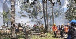 El jefe de las Fuerzas Armadas de Filipinas detalló que la aeronave se desplomó alrededor de las 11:30 hora local.