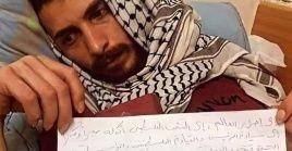 Tras 61 días de huelga de hambre en una prisión israelí, el joven palestino el joven Ghazanfar Abu Atwanpresenta un mal estado de salud.