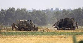 El allanamiento se produjo al infiltrarse fuerzas israelíesen la valla que separa el enclave palestino de los territorios ocupados.