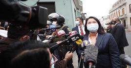 Keiko Fujimori indicó que solicitará al Ministerio Público la exclusión del fiscal José Domingo Pérez de este nuevo caso.