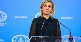 La portavoz rusa tildó de cínica la declaración emitida por el Ministerio de Relaciones exteriores estonio.