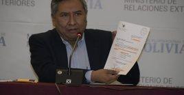 El canciller boliviano tildó lo acontecido de violación de los principios de diplomacia entre naciones hermanas.