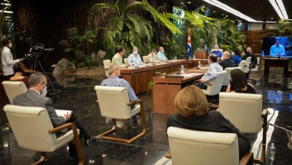El canciller participó en un comparencia especial del Gobierno de Cuba, encabezada por el presidente Miguel Díaz-Canel.