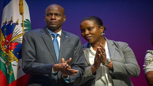 La exprimera dama haitiana escribió que no puede creer que su esposo haya sido asesinado frente a sus ojos.
