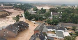 La región de Erftstadt-Blessemlas, en Alemania, ha sido una de las afectadas por las fuertes lluvias e inundaciones.
