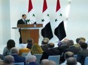 El presidente sirio, Bachar al Assad, tomó posesión de su cargo en una ceremonia en el Palacio Presidencial.