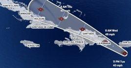 Las autoridades de Haití, Islas Turcas y Caicos, y de Bahamas emitieron una vigilancia de tormenta tropical.