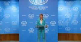"""La portavoz del organismo, María Zajárova subrayó que """"nuestra respuesta, como siempre, será dura y adecuada""""."""