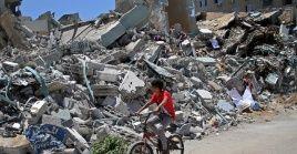 Este miércoles 25 de agosto, una vez más centenares de palestinos protestaron junto a la frontera en el sur de la Franja de Gaza.