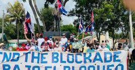 El proyecto de Solidaridad con Cuba, puentes de Amor ha desplegado una intensa agenda exigiendo el fin del bloqueo a Cuba.