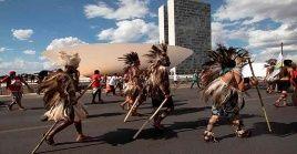 Al menos 170 etnias se movilizaron en Brasilia para presionar al STF en vísperas del juicio.