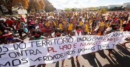 Cientos de indígenas se mantienen en la capital brasileña desde mediados de agosto esperando la decisión del STF.