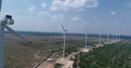 Los tres parque eólicos que entraron en actividad demandaron una inversión estatal de 194.000.000 de dólares.