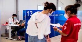Italia ya inmunizó al 76,86 por ciento de su población mayor de 12 años