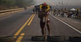 Hace poco menos de un mes, cientos de indígenas se manifestaron en Brasil contra medidas del llamado Marco temporal.