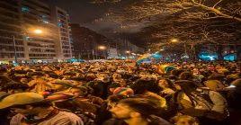 """La consigna principal de esta marcha fue """"Estado ausente, nuestra lucha presente""""."""
