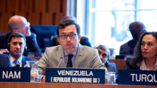 """""""Estamos ante un informe extremo politizado, parcializado y selectivo"""", dijo el diplomático venezolano Héctor Constant. ,"""