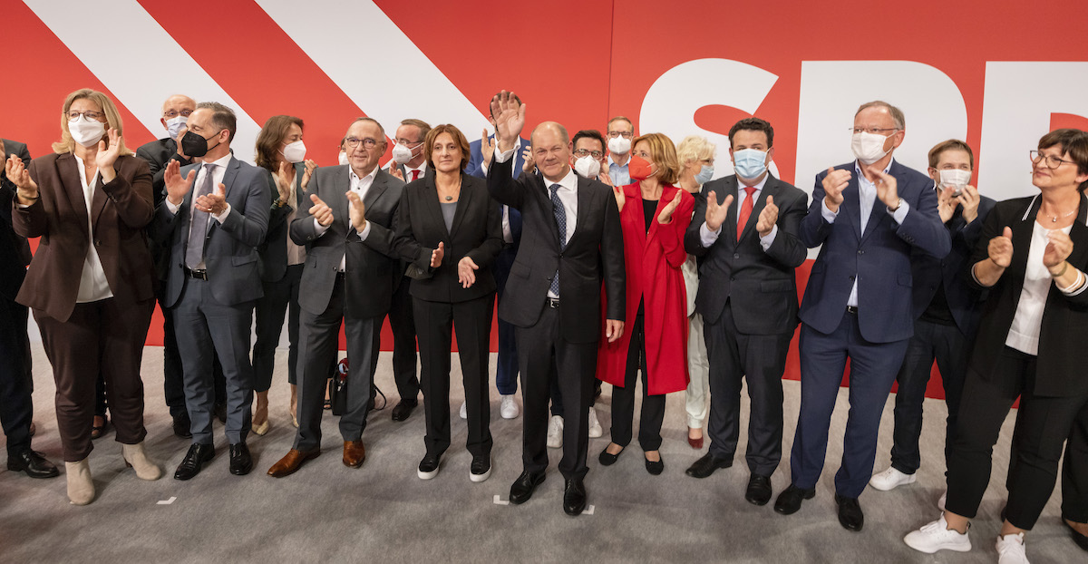 El candidato a canciller del SPD celebra que los votantes han manifestado querer un cambio de Gobierno en el país.